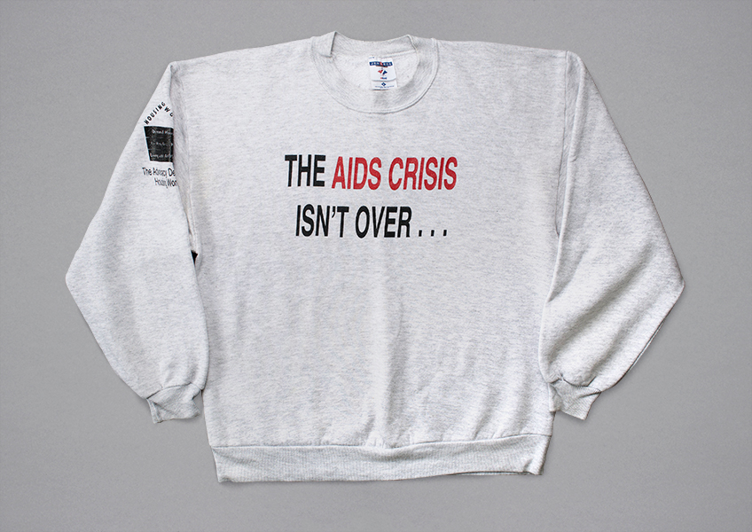 Front of a sweatshirt from 1998.