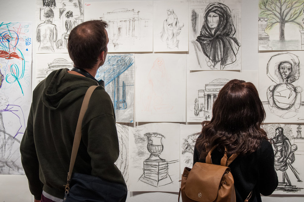 The Big Draw Exhibition, October 11, 2016, LeRoy Neiman Gallery.