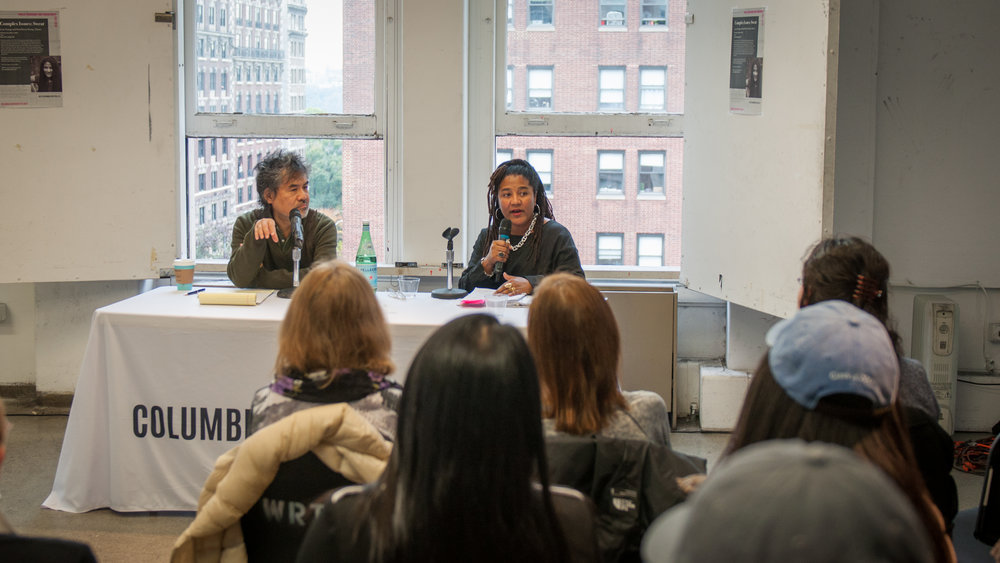 David Henry Hwang and Lynn Nottage discuss  Sweat , November 3, 2016.