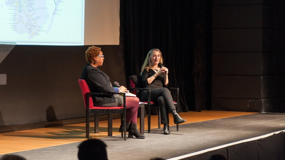 Mabel Wilson and Rebecca Solnit, October 26, 2016, Miller Theatre.