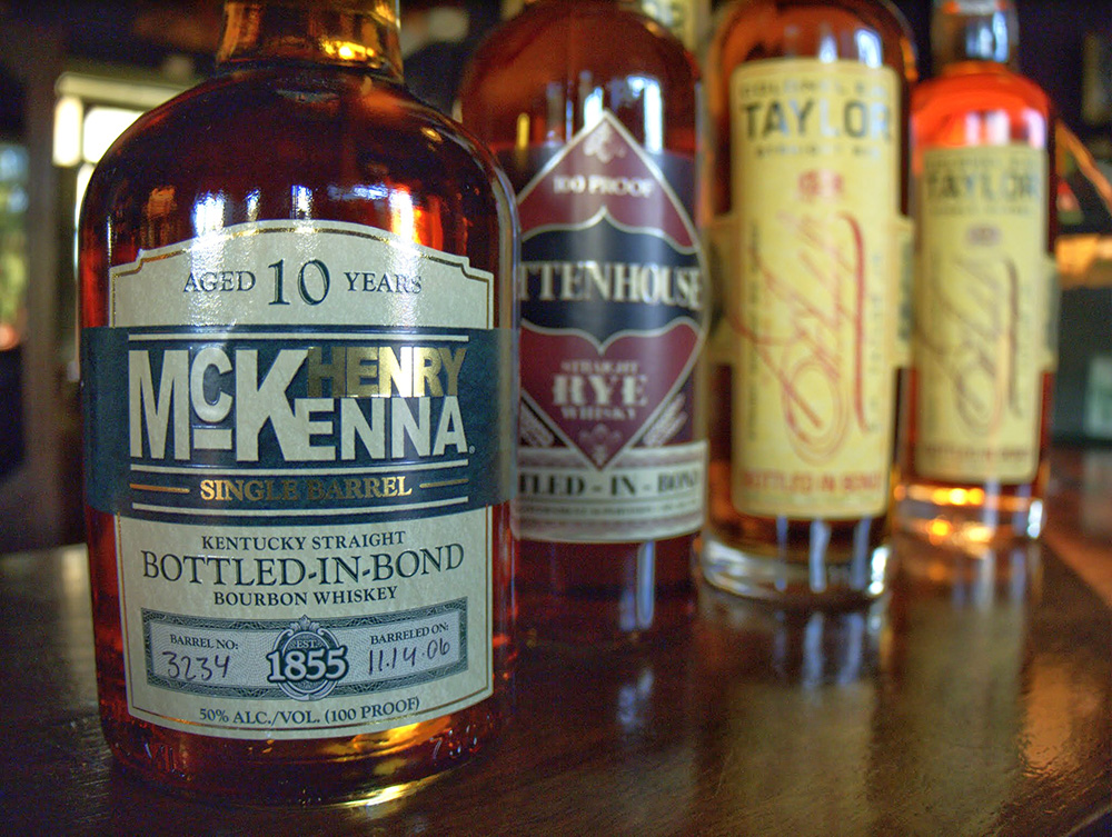 The four whiskeys we tasted