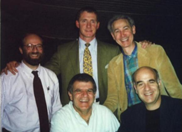 Clockwise from left: Paul Kerson, Sebastian Schuetz, Marc Leavitt, Ronnie Mandowski (seated), and Joseph Yamaner (seated).