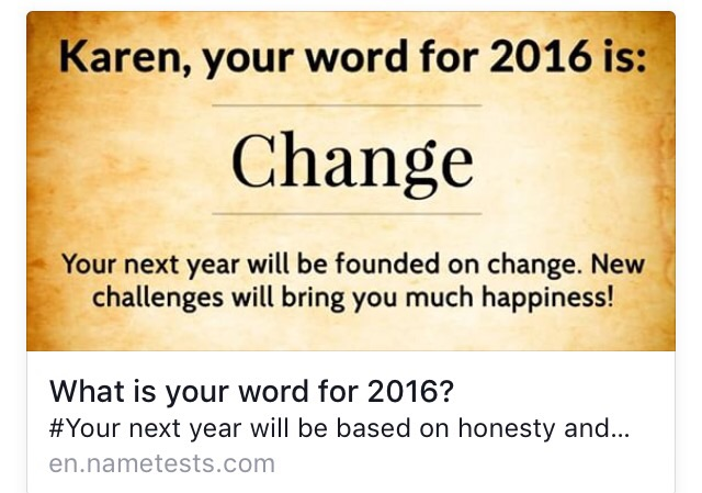 Even a social media quiz predicts a new year of change :)