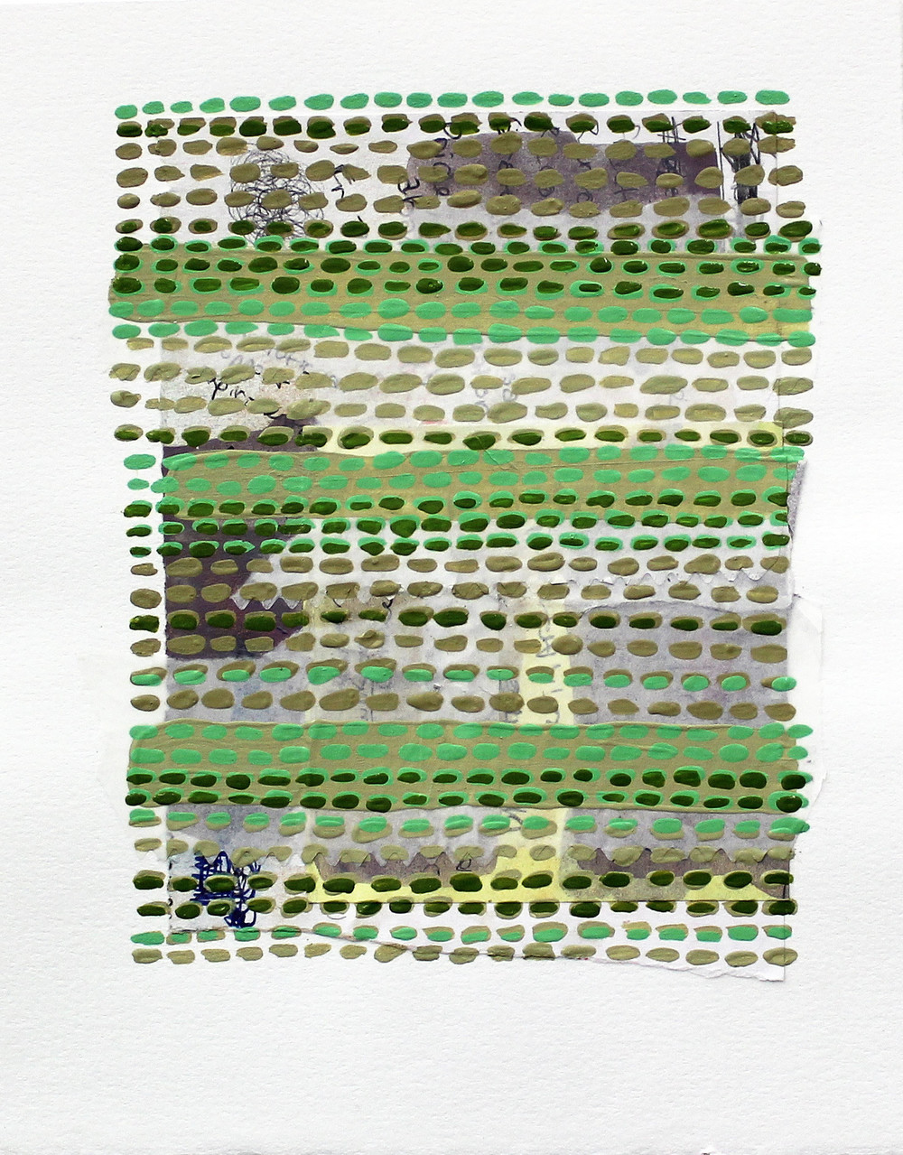 "Pride, Gradually Abandoned , 7.25 x 6"", paper, ink, and acrylic paint on paper, 2015 (SOLD)"