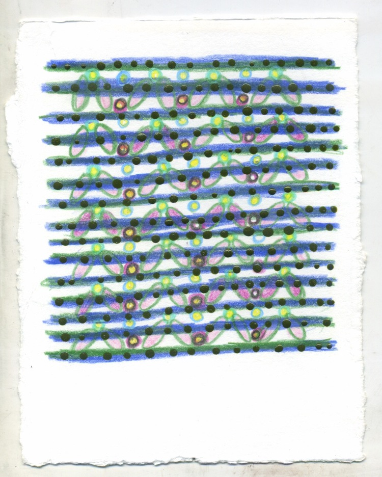 "Untitled ,  4.5 x 6"", colored pencils on paper, 2016 (SOLD)"