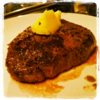 Grass-Fed Steak from Sage Mountain Farms with a big ol' hunk of Spring Hill pasture butter