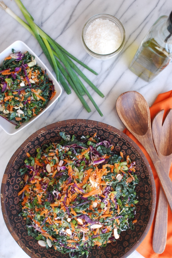 Coconuts, Kale, and Sesame Salad