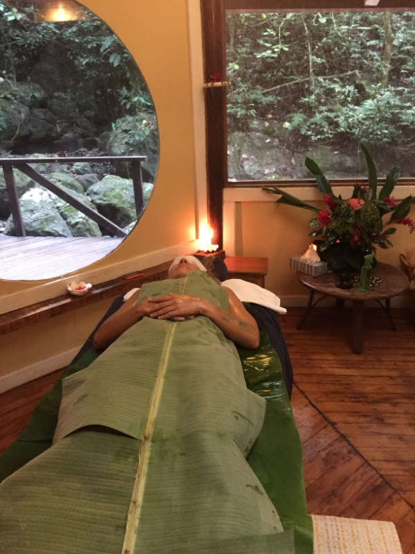 Banana Leaf Wrap at the Rainforest Spa