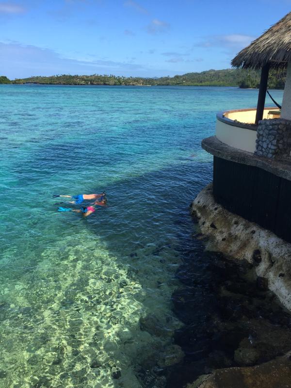 Snorkeling off the Edgewater Bure