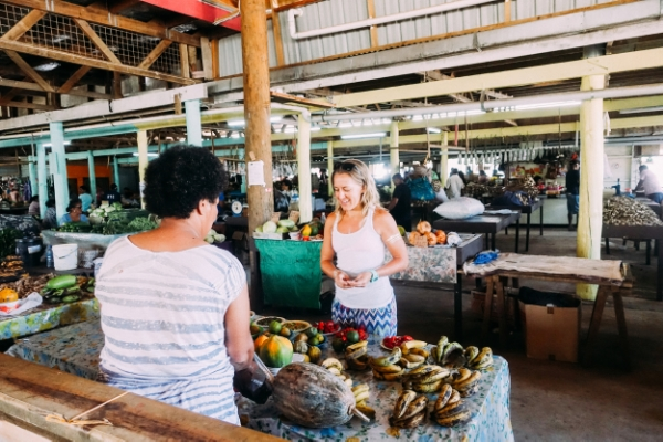 Savusavu town market trip.