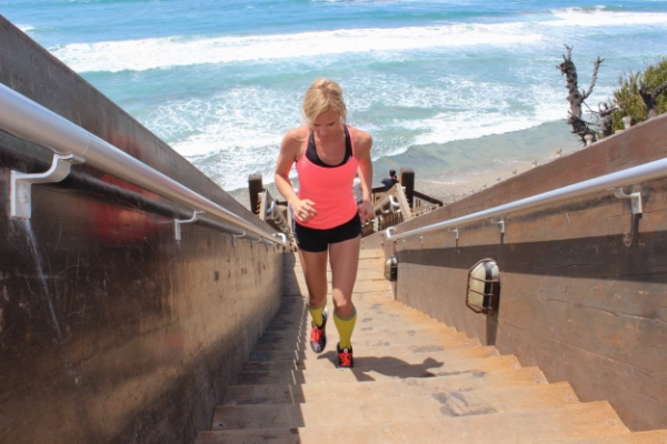 My friend Kate at Grandview Stairs, via her blog  SoCalRunnerGal.com