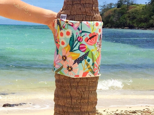 Ok so I wrapped my Block Sock around a palm tree since there were no blocks around, but... you get the idea!