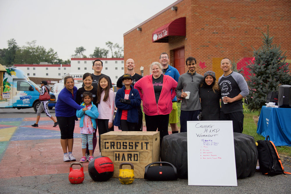We beat the rain with our community WOD at this weekends placemaking festival!