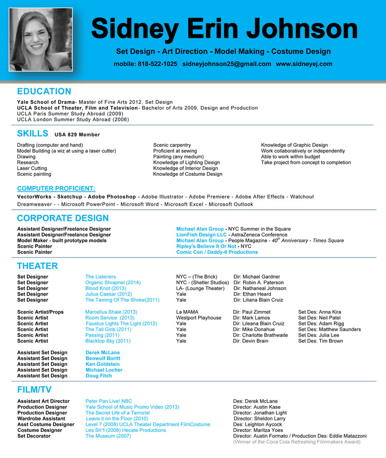 Resume — Sidney Erin Johnson
