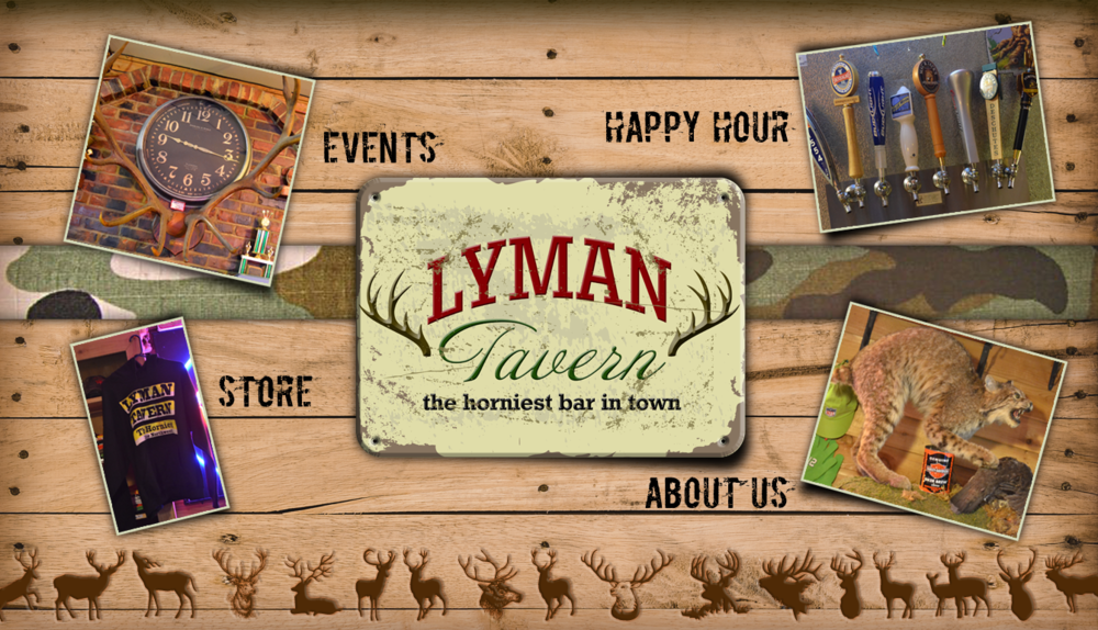 Logo and Web Design Concept for Lyman's Tavern.    Lyman, Washington