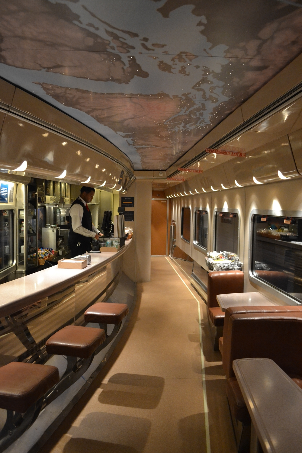 Amtrak Cascades Dining Car