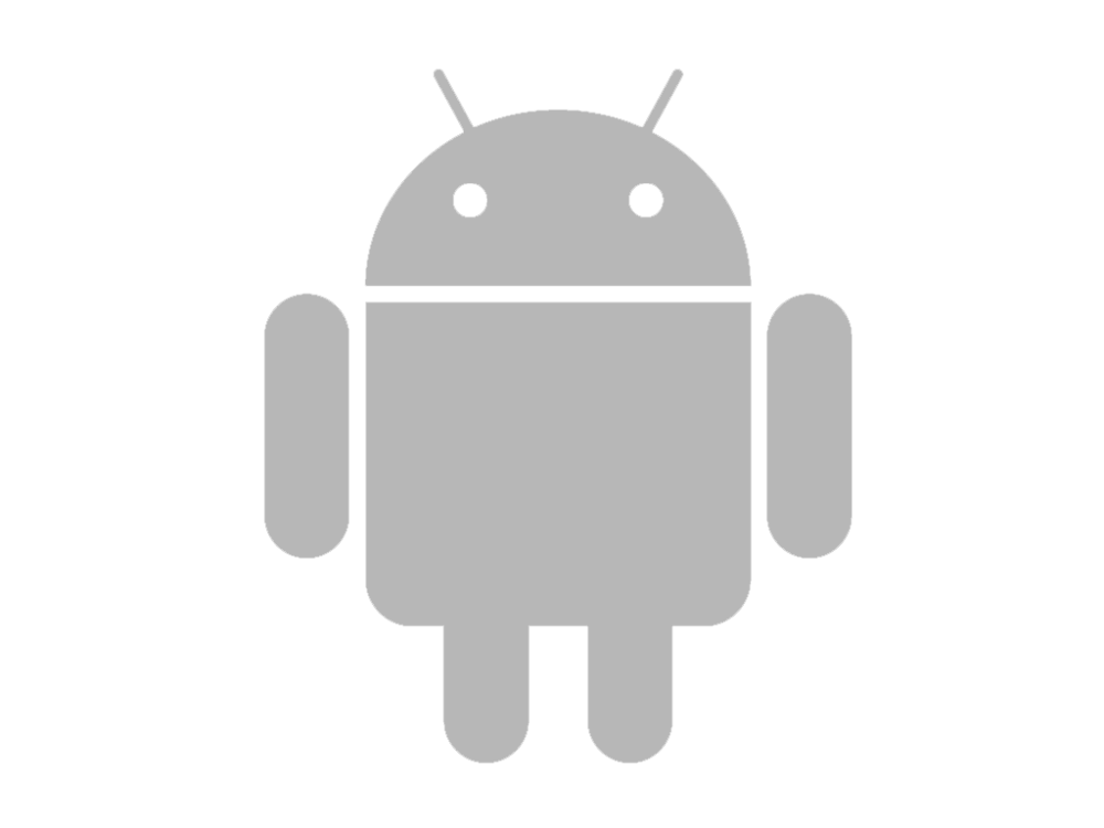 Black Android Logo Png Android Logo Grey Png