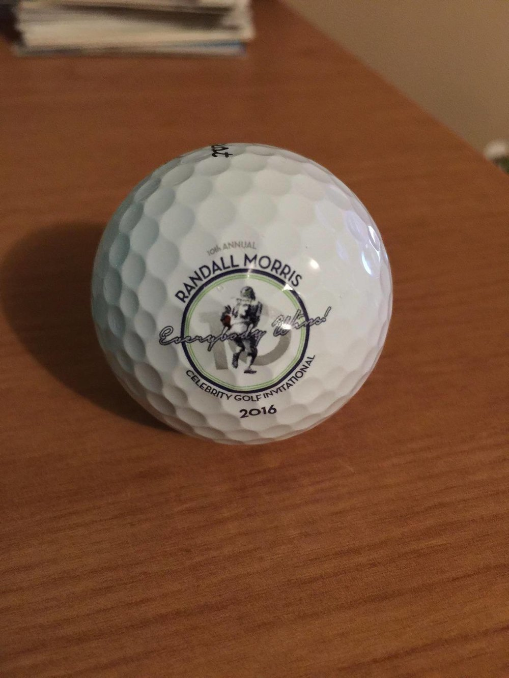 Randall Morris Celebrity Golf Invitational Logo and Golf Ball
