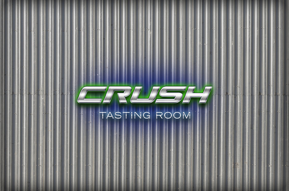 Seahawks Crush Tasting Room [at 40 72] Sweethawks Wine Industrial Silver and Neon Logo [v2 by Graham Hnedak Brand G Creative 11 NOV 2017.jpg