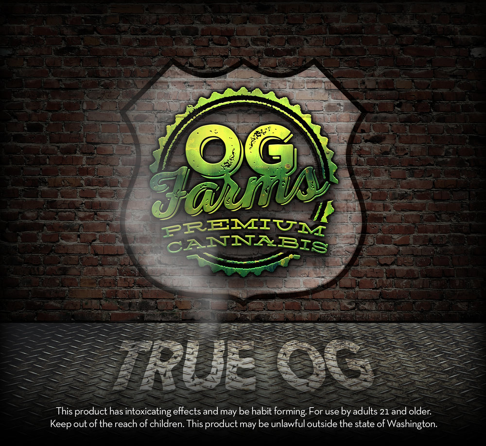 OG Farms TRUE OG Cannabis Label