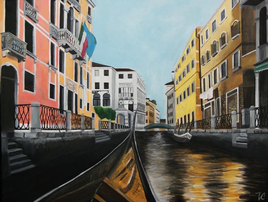 """""""Venice"""" Acrylic on Canvas  Created by Victoria Charko aka Vanilla"""