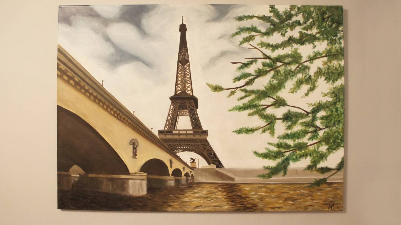 """Paris"" Acrylic on Canvas Created by Victoria Charko aka Vanilla"