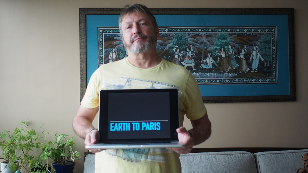 Don't forget the hashtag like I did. #earthtoparis