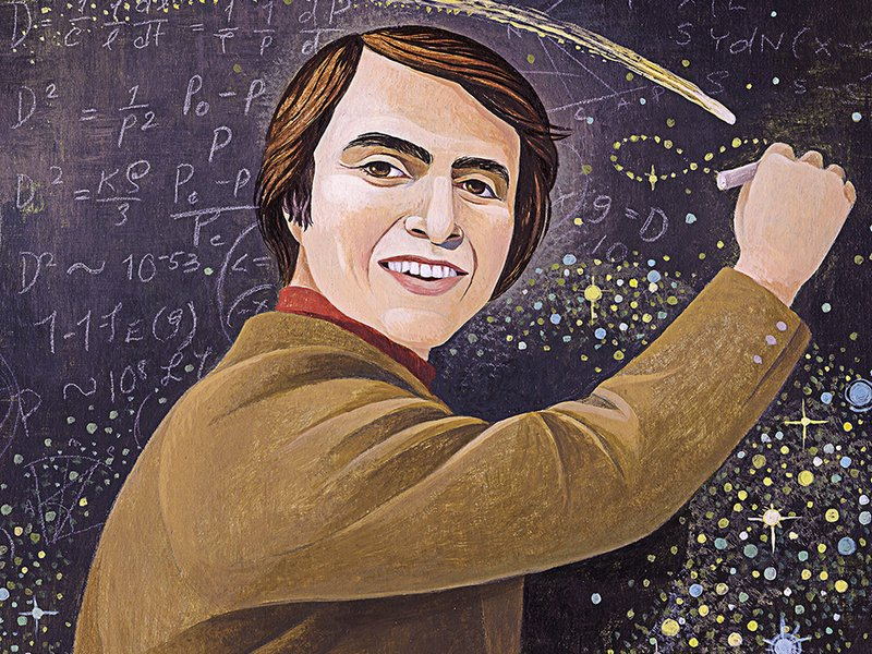 the late, wonderful - carl sagan. click to see carl's baloney detection kit.
