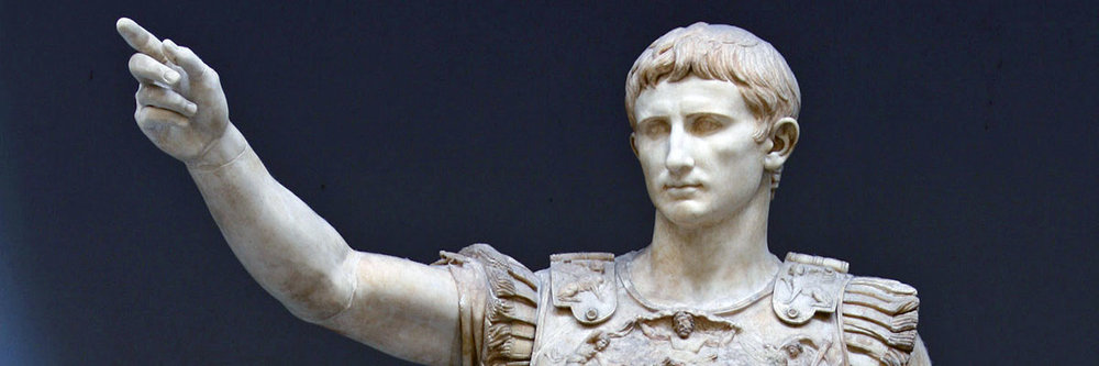 Caesar Augustus, the first emperor in the ancient  Roman Empire
