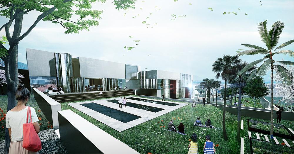 Urban centre for performing arts u de gayardon bureau