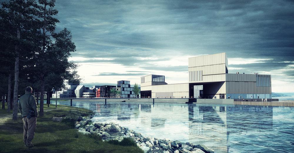 Gjøvik - Huntonstranda  cultural centre