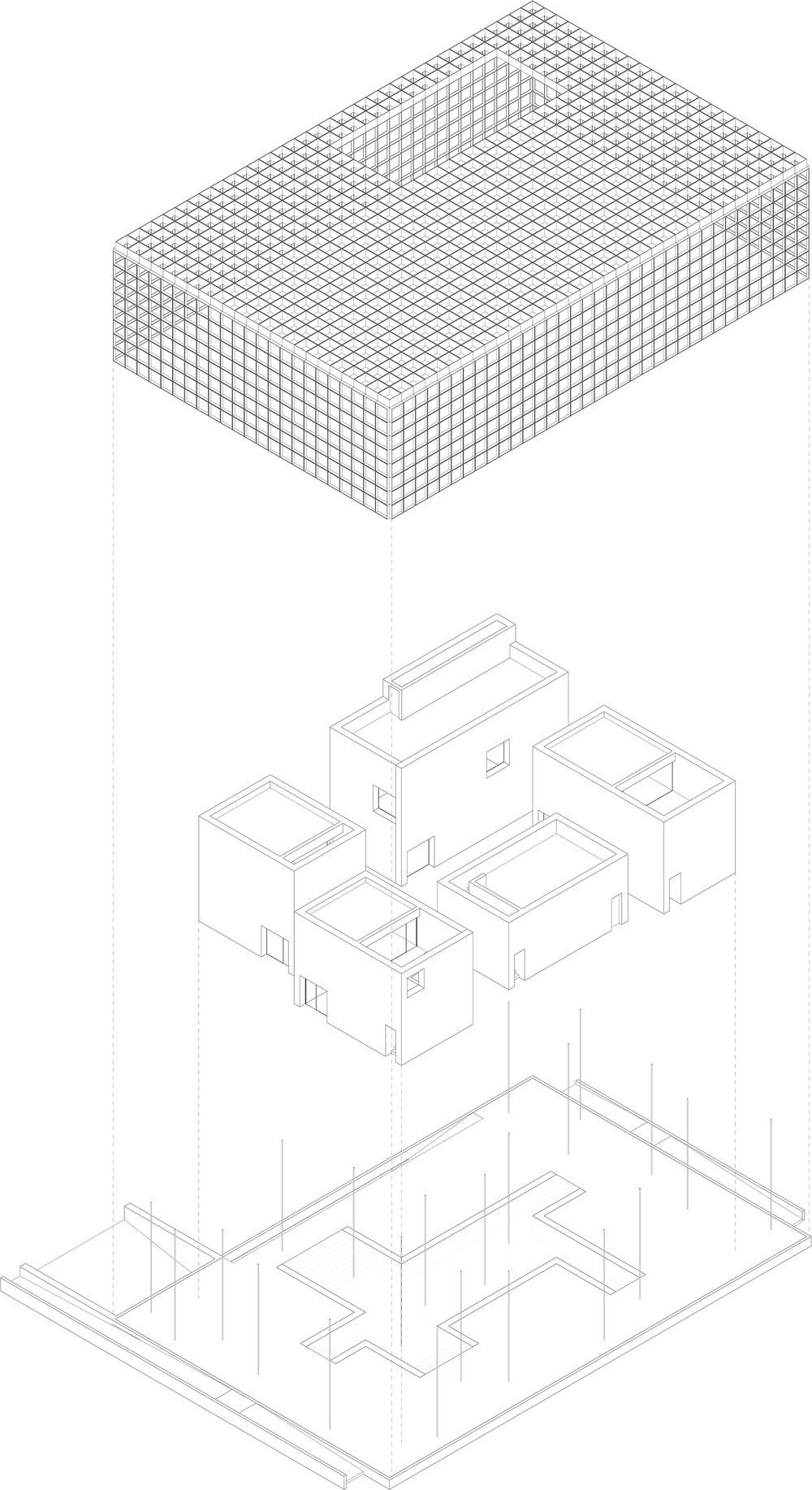 A Beautiful House Competition | Axonometric