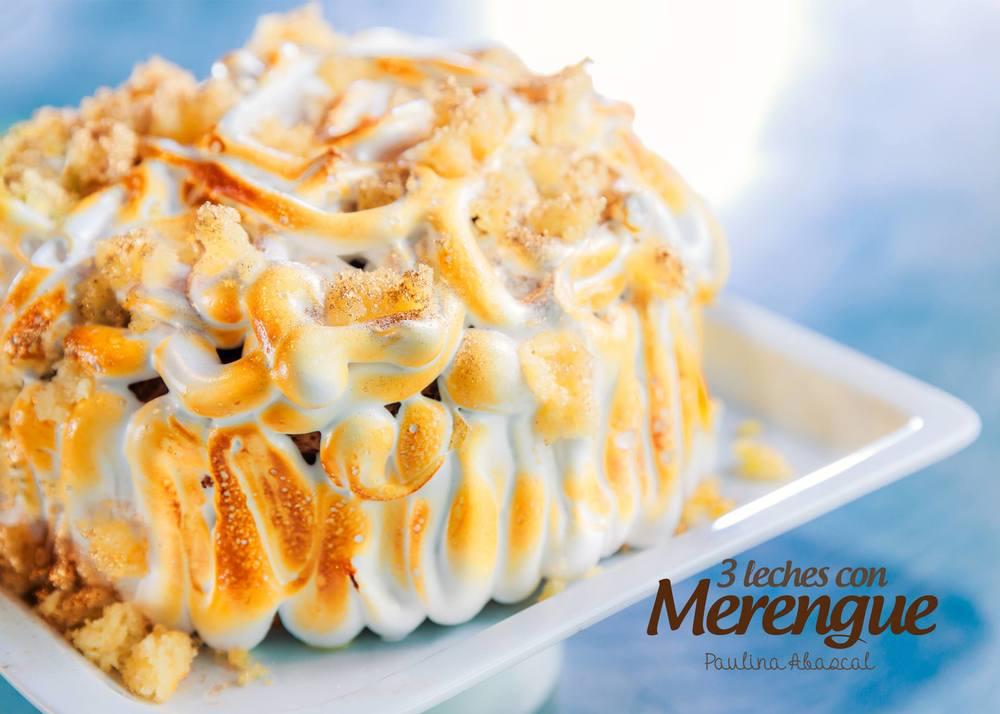 Pastel 3 Leches con Merengue.