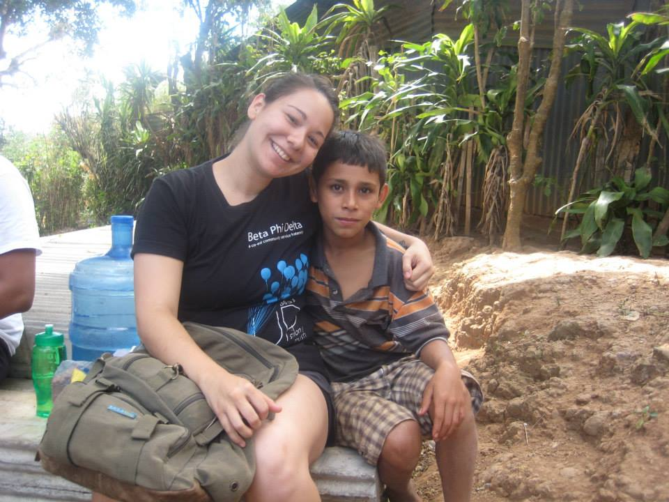 Allyson with Jesús, one of Irma's children.
