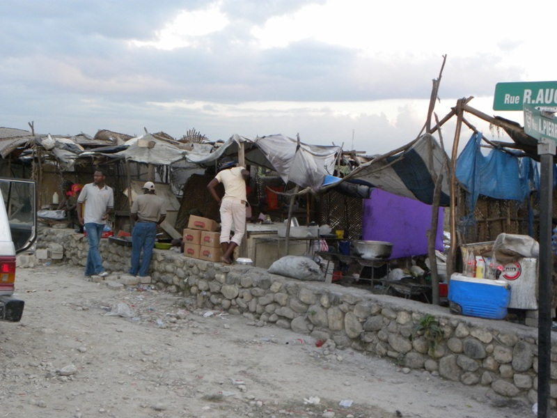 A Haitian tent camp after the 2010 earthquake.