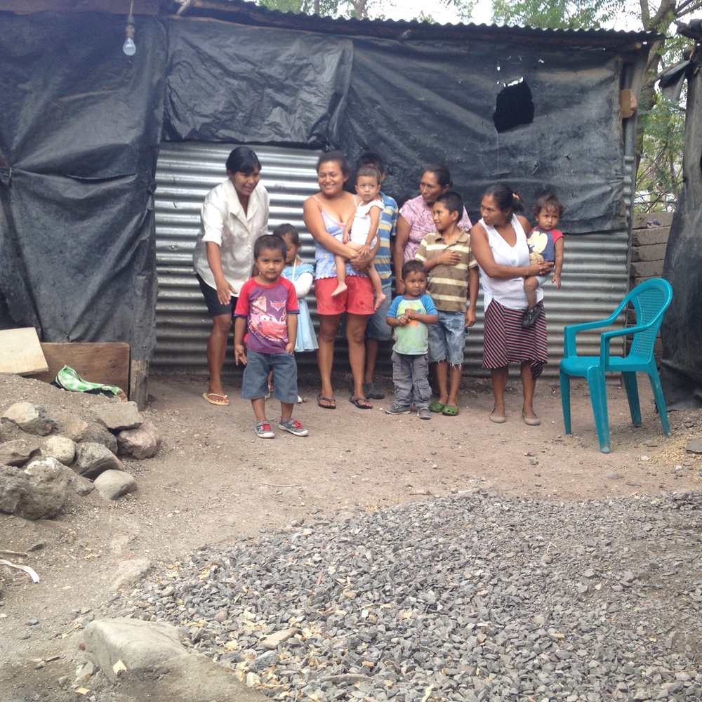A Homes from the Heart family in Nicaragua - BEFORE