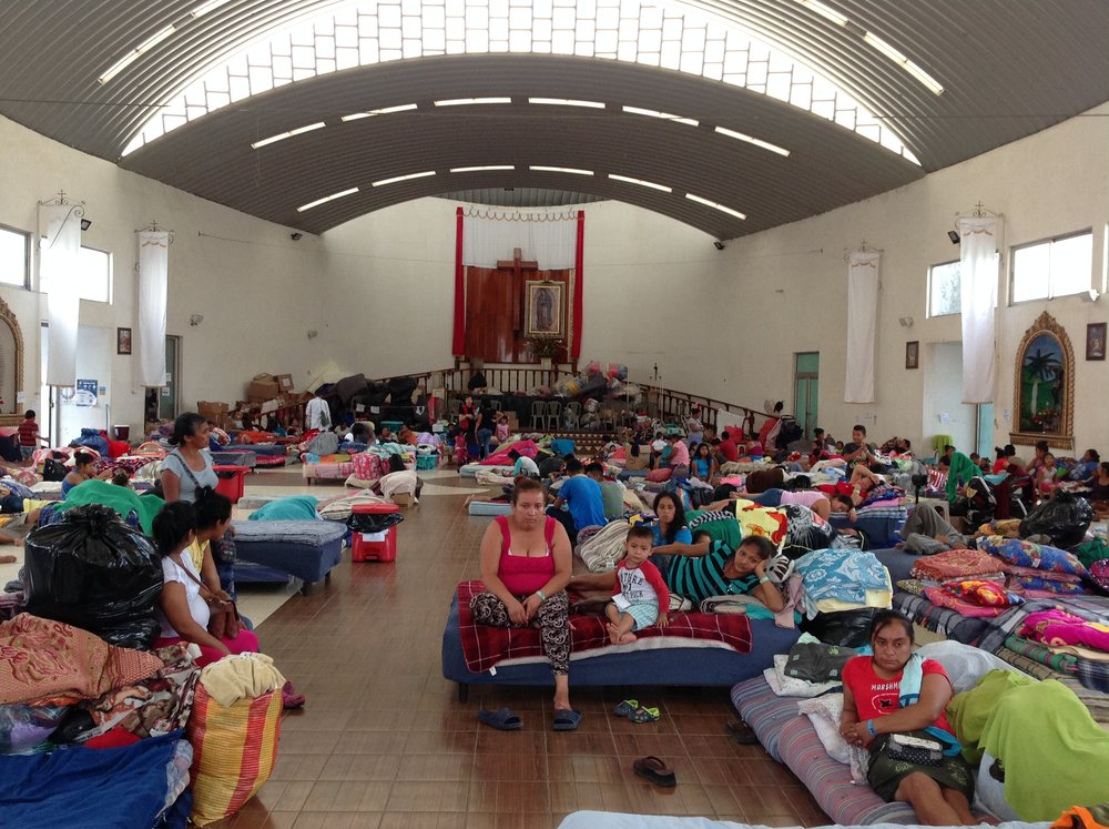 Survivors housed at Our Lady of Guadelupe Church, Escuintla.  Close to 600 people are currently housed there_.jpg