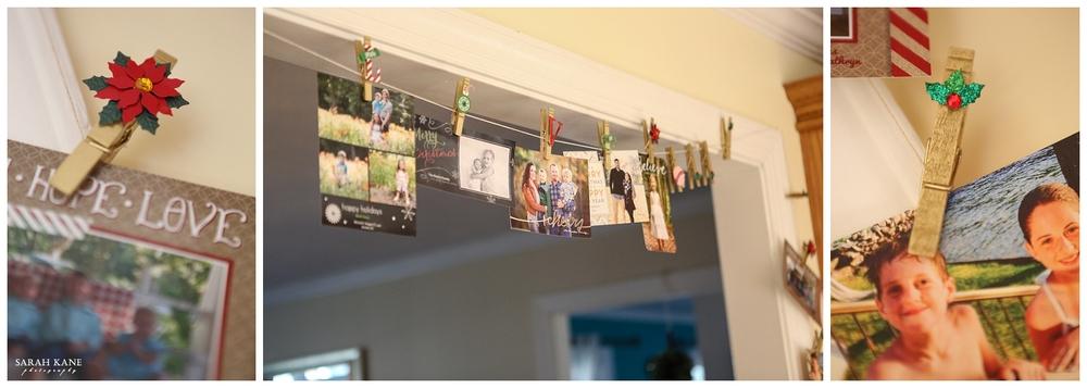 DIY Christmas Card Display | Sarah Kane Photography