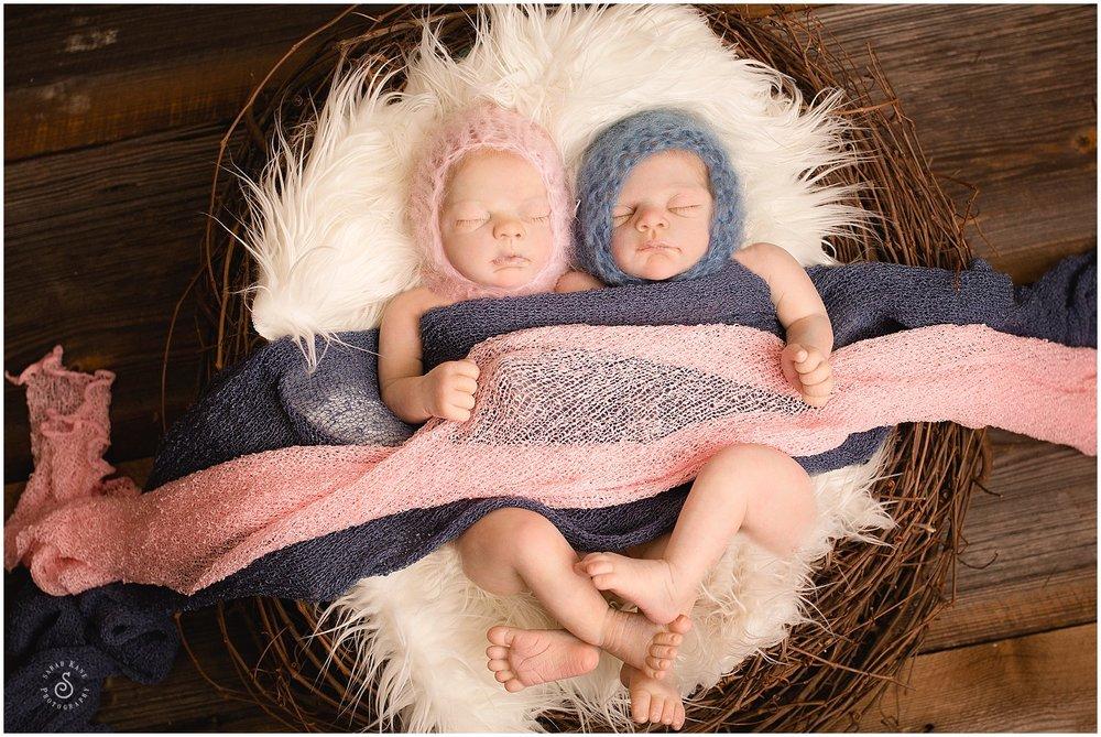 Rebirth Twin Babies www.sarahkanephotography.com