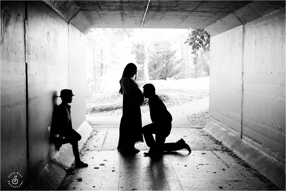 maternity portraits silhouette www.sarahkanephotography.com