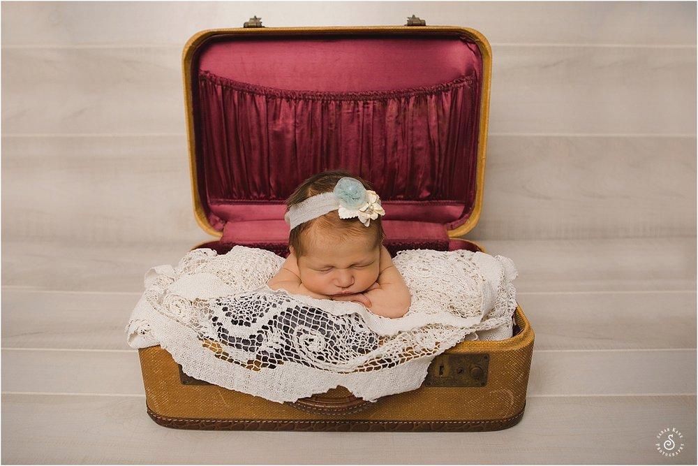 newborn portraits vintage props www.sarahkanephotography.com