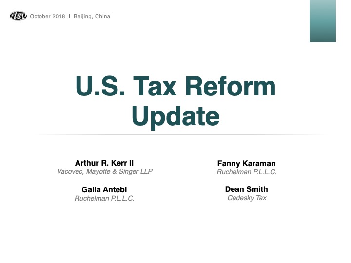 U.S. Tax Reform Update