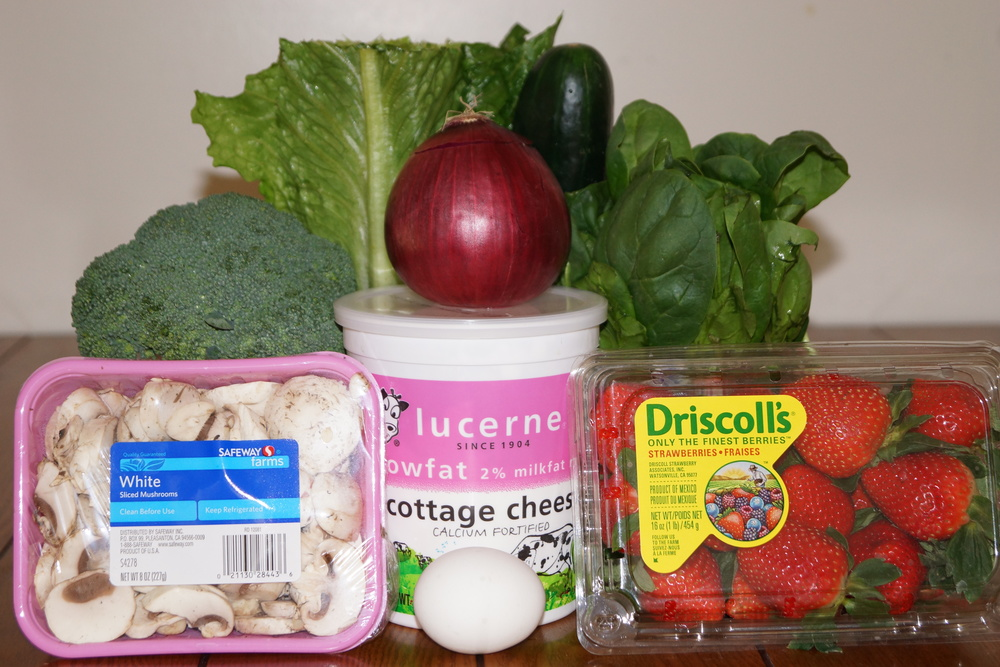"""Healthy"" ingredients for a salad"