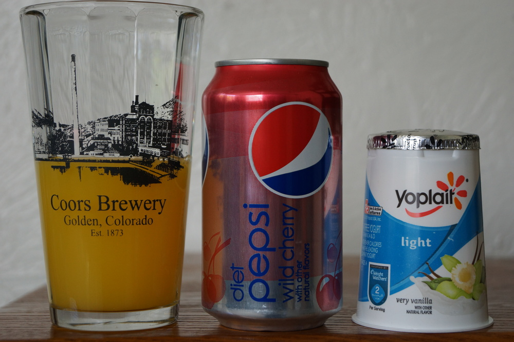 Orange juice (6 ounces maximum), diet soda, and light yogurt are examples of my personal nutrition rules.