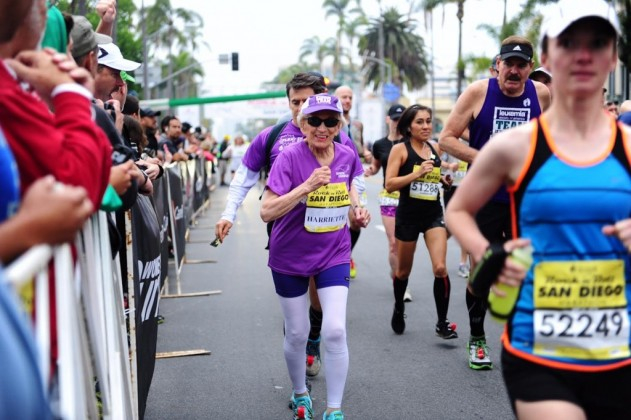 92-Year-Old Runs to Break Marathon Record in San Diego  ( courtesy of competitor.com ).