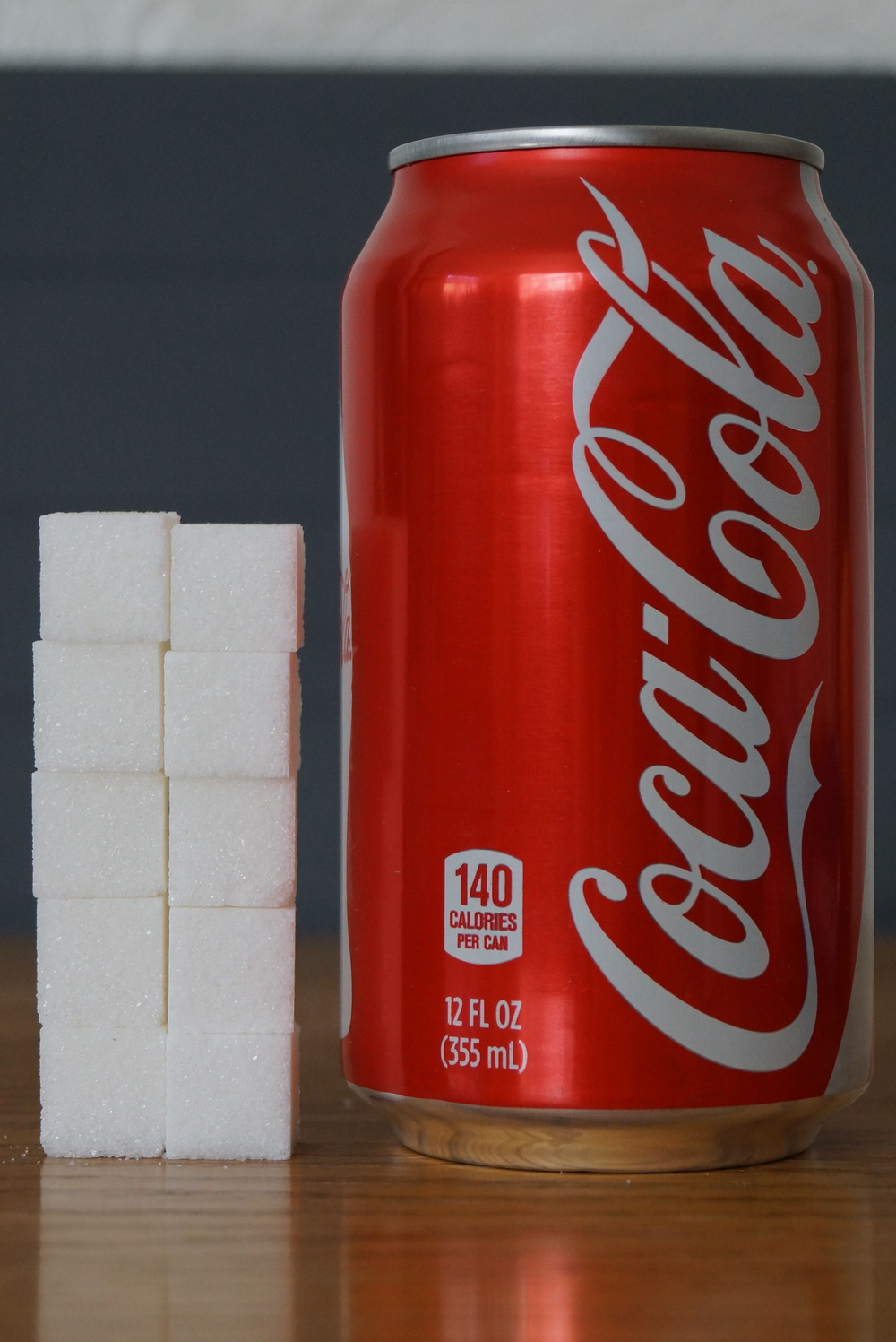 Amount of Sugar in One 12 oz can of Coca Cola