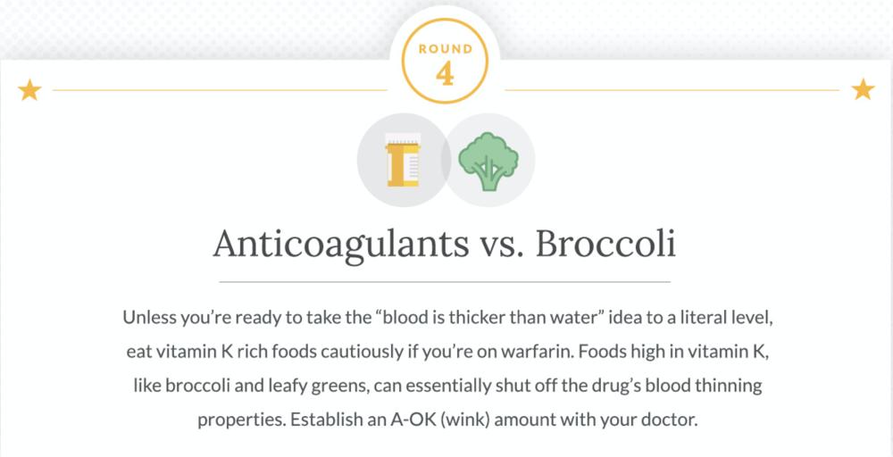 Anticoagulants and Broccoli