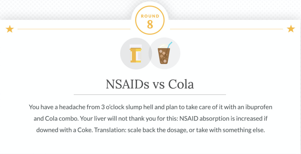 NSAIDs and Cola