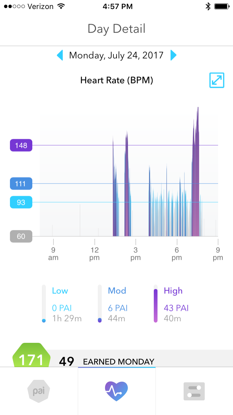 Figure 4.  One Day of PAI; Hour by Hour.