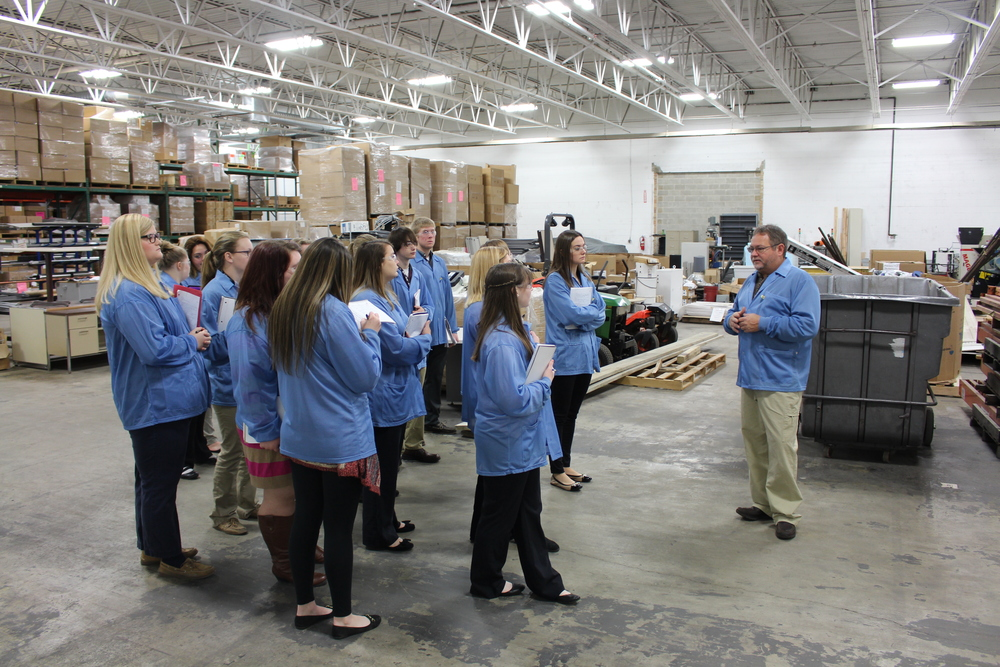 -JJ Richardson, President and CEO of CCK Automations, Inc., providing the students with a tour of his facility in Jacksonville.
